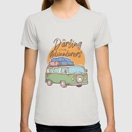 Road Trip Camping Adventure Campfire Print T-Shirt - Design Illustration Print Artwork Gift Idea Tee T-shirt