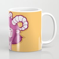 aries Mugs featuring Aries by Chiara Zava