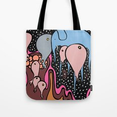 the RECURRING DREAM of the BLUE ELEPHANT Tote Bag