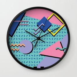 Memphis Pattern 14 - 80s Retro Wall Clock