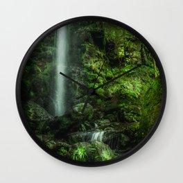 Mallyan in Green Wall Clock