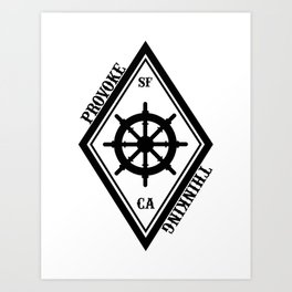 Provoke Thinking Logo Art Print