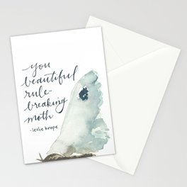 you beautiful rule-breaking moth Stationery Cards