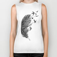 fly Biker Tanks featuring Fly Away by Rachel Caldwell