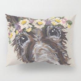 Flower Crown Donkey Art, Neutral Donkey Art, Cute Donkey Art Pillow Sham