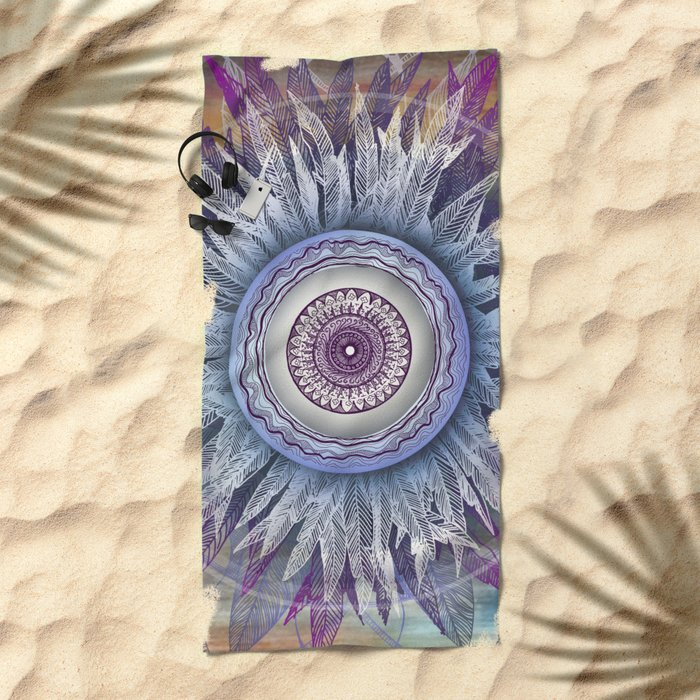 Crown Chakra (II) Beach Towel