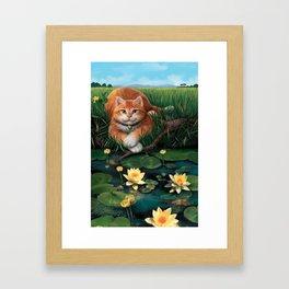 "Mosky Cat ""Waterlily"" Framed Art Print"