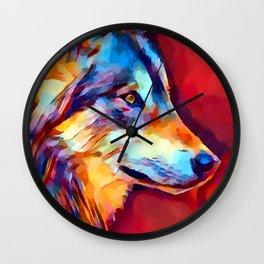 Wolf Portrait 2 Wall Clock