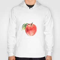 apple Hoodies featuring Apple by Anna Yudina