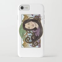 regina mills iPhone & iPod Cases featuring regina nouveau by raynall