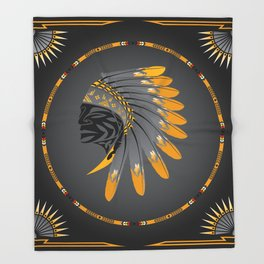 Honor and Strength Yellow Throw Blanket