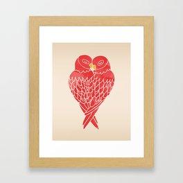 Love Birds (Red) Framed Art Print