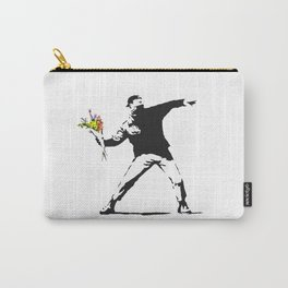 Love Is In The Air (Flower Thrower) - Banksy Graffiti Carry-All Pouch