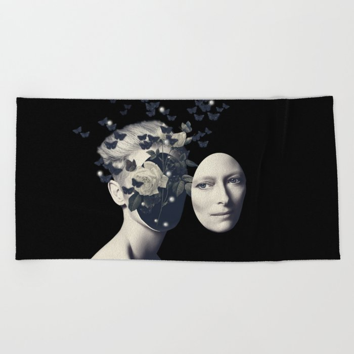 We Only Come Out at Night Beach Towel