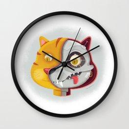 Cyborg cat Wall Clock
