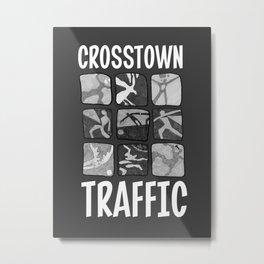 Crosstown Traffic - BW Metal Print