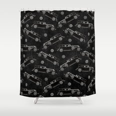Retro Cadillac car pattern Shower Curtain