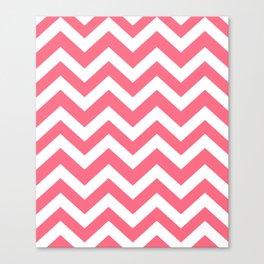 Wild watermelon - pink color - Zigzag Chevron Pattern Canvas Print