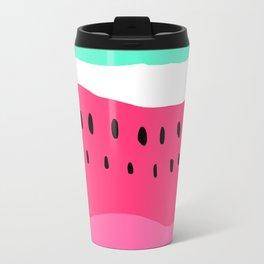 Modern summer watermelon color block neon pink turquoise Travel Mug
