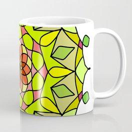 Pretty teal turquoise floral mandala Coffee Mug
