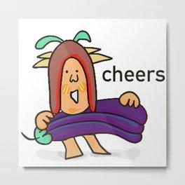Funny Mr.Little_Cheers Metal Print