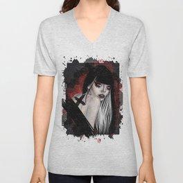 Vampire portrait Unisex V-Neck