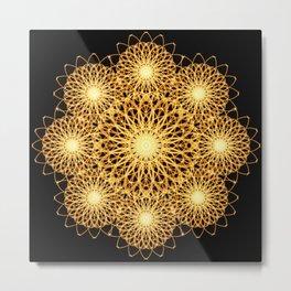 Sparks Mandala Metal Print