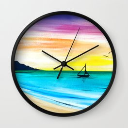 Rainbow Sunrise Acrylic Wall Clock