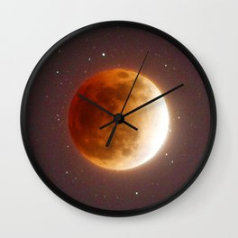 Lunar Eclipse Blood Moon Wall Clock