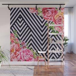 flowers geometric Wall Mural