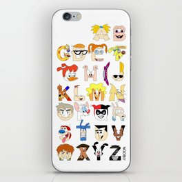 Child of the 90s Alphabet iPhone Skin