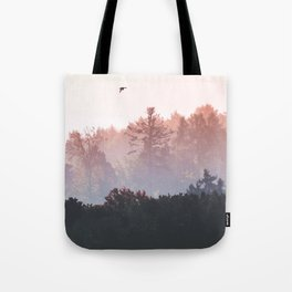 Birds in the fall Tote Bag