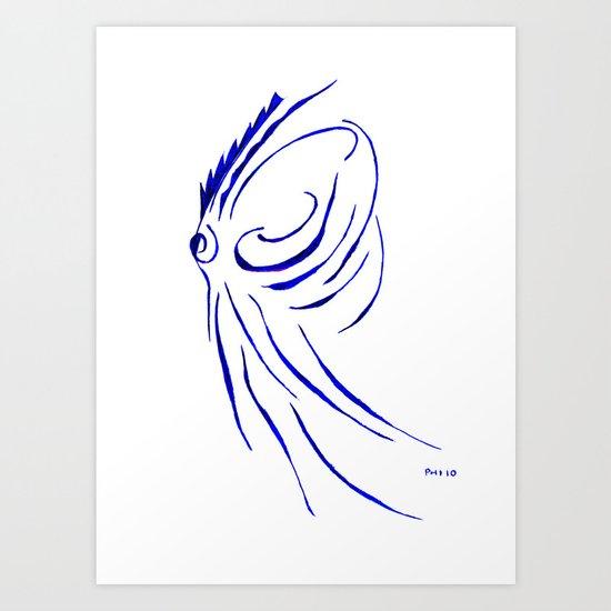 teuthida abispa  Art Print