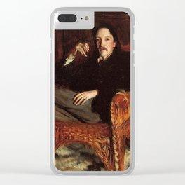 John Singer Sargent Robert Louis Stevenson 1887 Clear iPhone Case