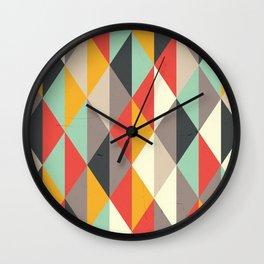 AUTUMN PUMPKIN RHOMB PATTERN Wall Clock