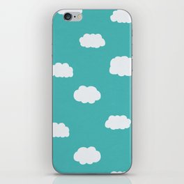 Cartoon Clouds Pattern iPhone Skin