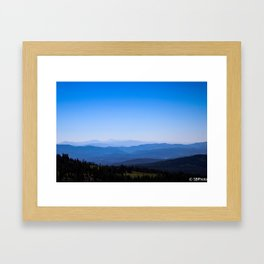 View From Mt. Shasta Framed Art Print