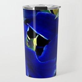 Blue Lilies Travel Mug