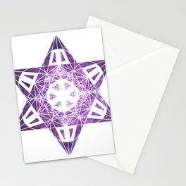Metatron's Cube Time Wheel ~ Purple Olympus Stationery Cards