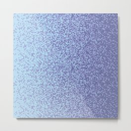 Light Lilac Pixilated Gradient Metal Print