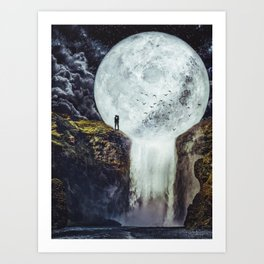 Romantic Moon by GEN Z Art Print