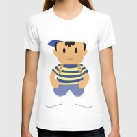 earthbound T-shirts featuring Ness - Earthbound - Super Smash Brothers - Minimalist by Adrian Mentus
