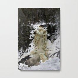 Moxie Falls in Winter Metal Print