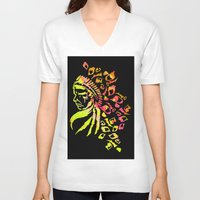indie V-neck T-shirts featuring Midnight Indie by trendaholic
