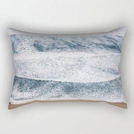 Rough Waters On Portugal Atlantic Coast Rectangular Pillow