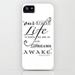 Typography Quote Art Print iPhone Case