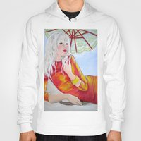 tequila Hoodies featuring Tequila Sunrise by Geraldine Warrior