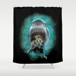 Shark! Shower Curtain