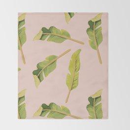 Tropical '17 - Solar [Banana Leaves] Throw Blanket
