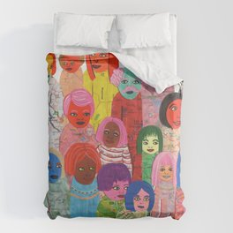 All the People Duvet Cover